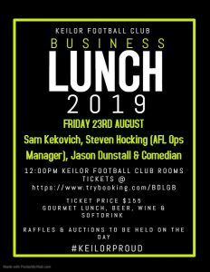 2019 Business Lunch 2019 Business Lunch