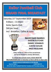 EDFL Grand Final Saturday KFC Grand Final Breakfast 2019 page 001