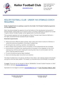 Under 18.5 Women's Coach Required Under 18 Womens Coaching Job page 001